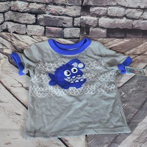 Circo 3 Toddler Smiling Fish T Shirt Gray Blue